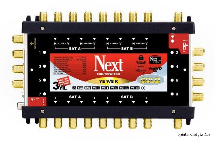 NextStar Cift Canak 8 Daire Montaj Dahil
