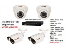 NextCam 4 Adet AHD Güvenlik Kamera Eko Paket Montaj Dahil