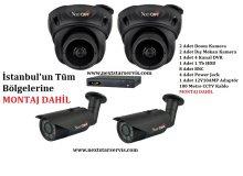 NextCam 4 Adet AHD Güvenlik Kamera Pro Paket Montaj Dahil